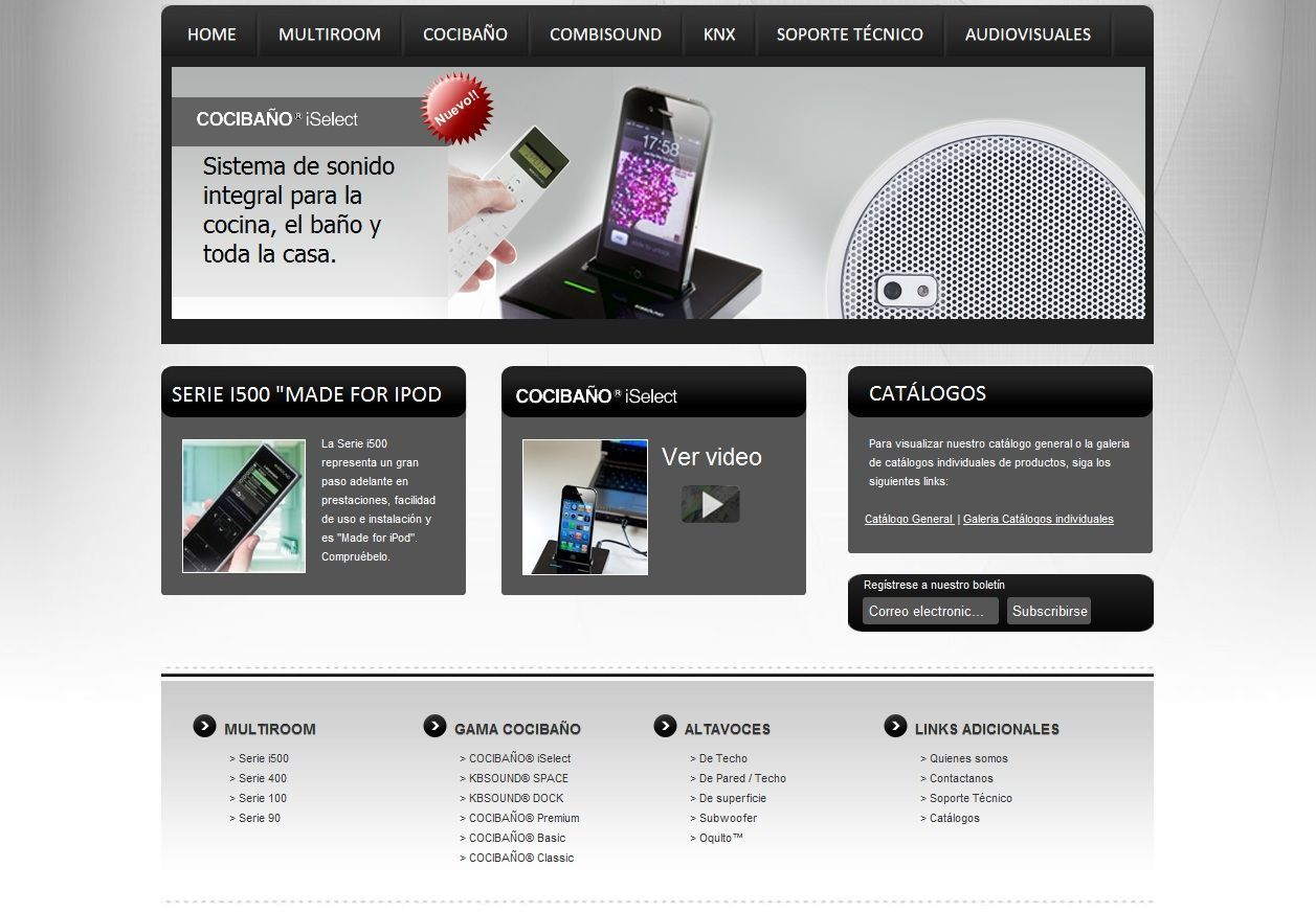 Eissound: gran empresa, gran web