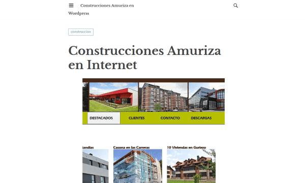 construcciones amuriza en wordpress